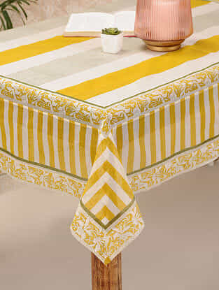 Yellow Cotton Table Cover (60inX60in)