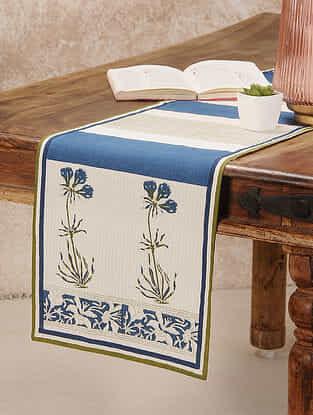 Indigo Cotton Table Runner (11inX47in)