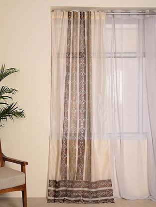 Brown Chanderi Curtain(106inX44in)