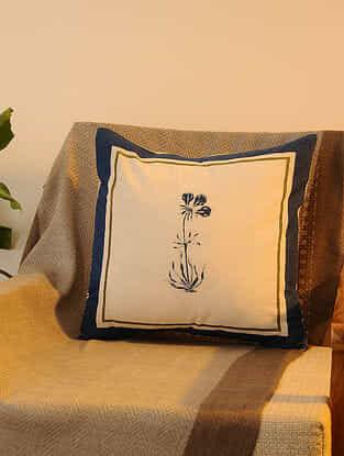 Indigo Cotton Cushion Cover Set of 2 (16inX16in)