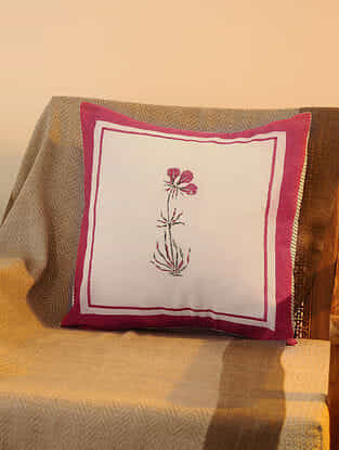 Magenta Cotton Cushion Cover Set of 2 (16inX16in)