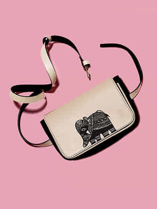 Ivory Handcrafted Genuine Leather Sling Bag