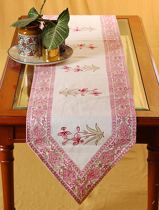 Rosy Bud Six Seater Table Runner