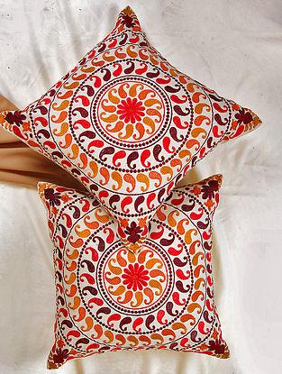 Orange Paisley Cushion Cover