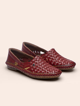 Red Handcrafted Genuine Leather Shoes