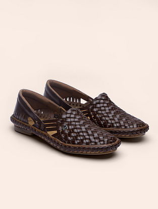 Brown Handcrafted Genuine Leather Shoes