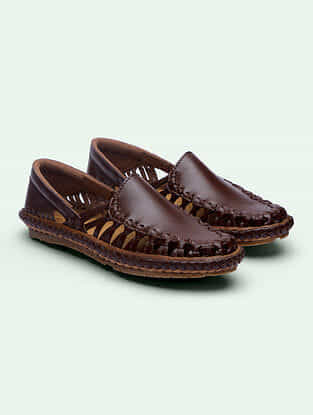 Brown Handcrafted Genuine Leather Shoes for Men