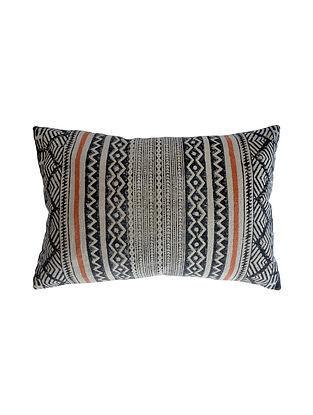 Multicolored Block Printed Cotton Cushion Cover (L-24in,W-16in)