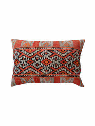 Multicolored Cotton Digital Printed Cushion Cover (L-24in,W-16in)
