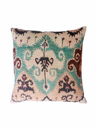 Multicolored Cotton Digital Printed Cushion Cover (L-20in,W-20in)