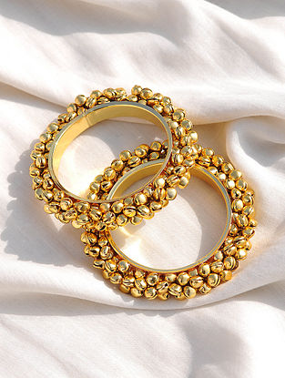 Gold Tone Handcrafted Bangles