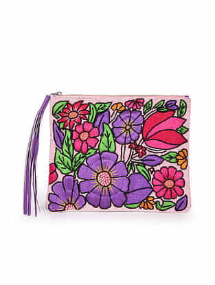 Multicolored Handcrafted Vegan Leather Pouch
