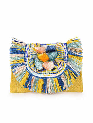 Multicolored Handcrafted Jute Clutch