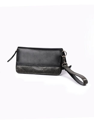 Black Handcrafted Genuine Leather Wallet