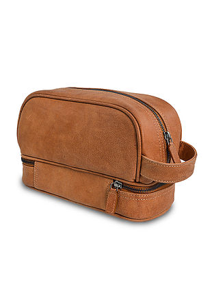 Tan Handcrafted Genuine Leather Hand Bag