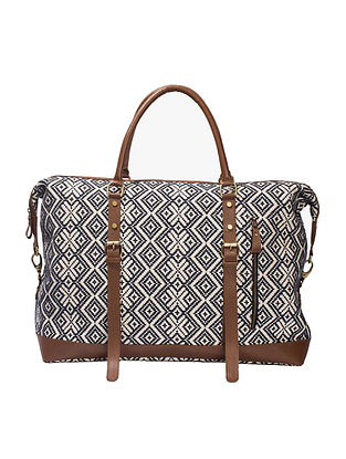 Multicolored Handcrafted Genuine Leather Luggage Bag