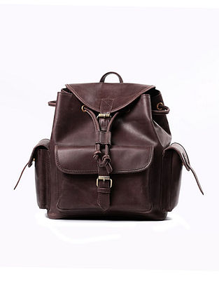 Brown Handcrafted Genuine Leather Luggage Bag