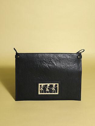 Black Handcrafted Genuine Leather Laptop Bag