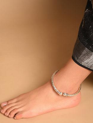 Tribal Silver Adjustable Anklet