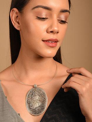 Tribal Silver Hasli Necklace