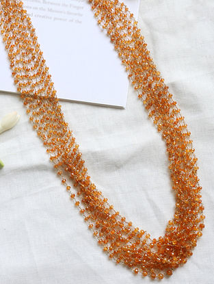 Beaded Silver Necklace
