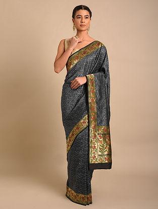 Black Handwoven Benarasi Silk Saree