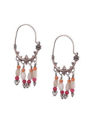 Multicoloured Tribal Silver Earrings