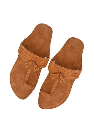 Brown Handcrafted Leather Kolhapuri for Men