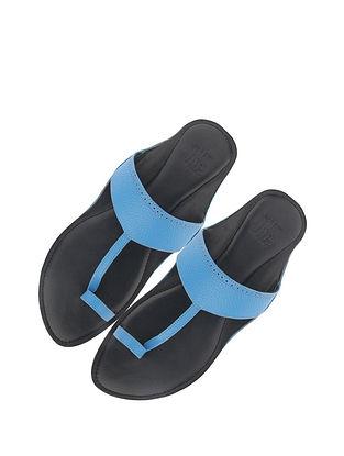 Blue Handcrafted Leather Kolhapuri for Men