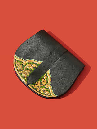 Green Handcrafted Genuine Leather Pouch