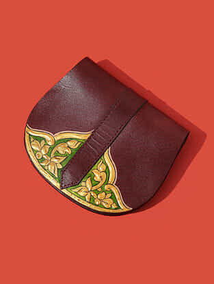 Red Handcrafted Genuine Leather Pouch
