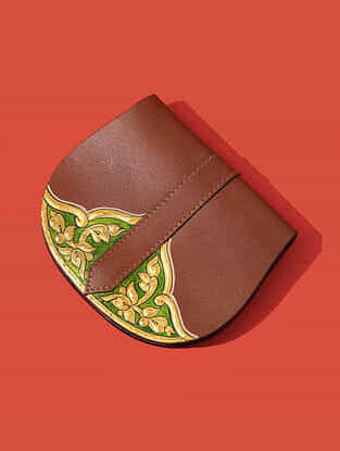 Tan Handcrafted Genuine Leather Pouch