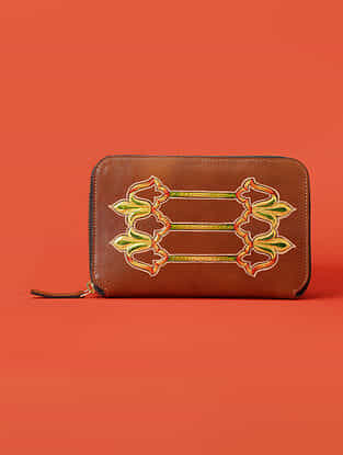 Tan Handcrafted Genuine Leather Wallet