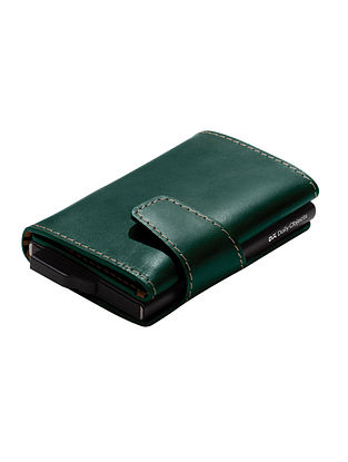 Green Handcrafted Genuine Leather Wallet