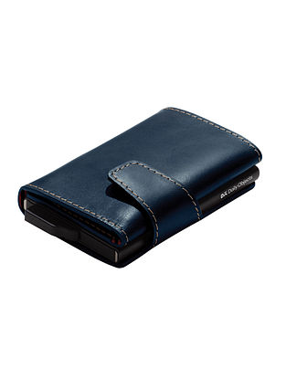 Navy Blue Handcrafted Genuine Leather Wallet