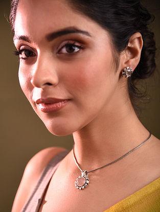 Roze Quartz Silver Pendant with Earrings