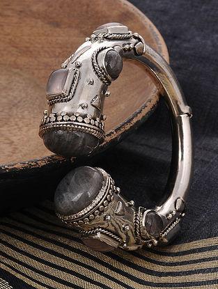 Grey Tribal Silver Braclet