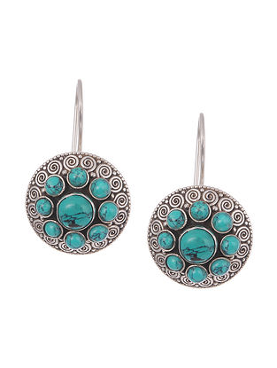 Turquoise Trible Silver Earrings