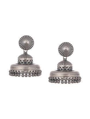 Tribal Silver Jhumki Earrings