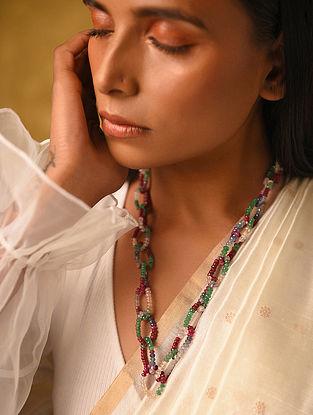 Silver Multi Tourmaline Necklace