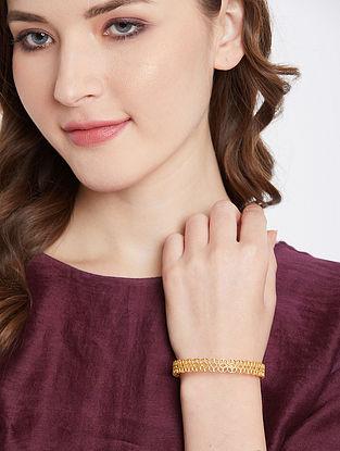 Gold Tone Handcrafted Bangle (Bangle Size- 2/4)