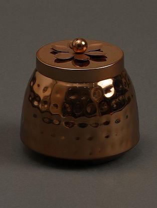 Jasmine Tea Copper Metal Votive (H- 3in, Dia- 4in)