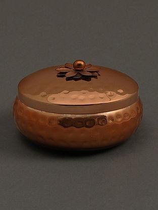 Jasmine Tea Copper Metal Votive (H- 2in, Dia- 4in)