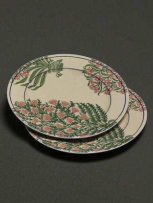 Beige Uttama Side Plates (Set of 2) (Dia- 7in)