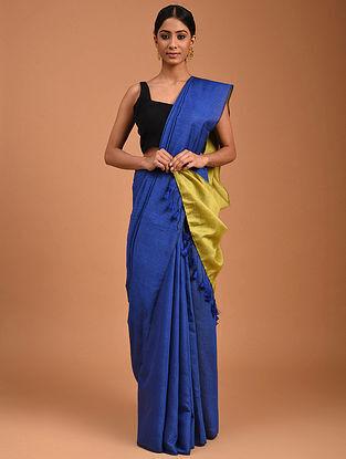 Blue Handwoven Cotton Silk Saree