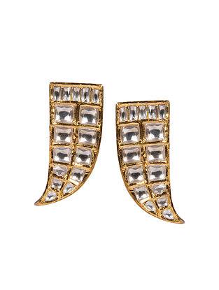 Gold Polki Diamond Earrings