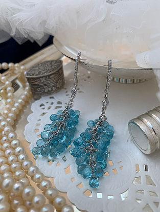 Blue Drop Silver Earrings