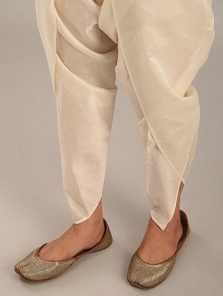 Off White Chanderi Dhoti Pants