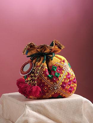 Multicolored Phulkari Embroidered Potli