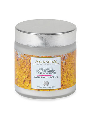 Sandalwood, Rose and Vetiver Bath Salt and Scrub - 100gms